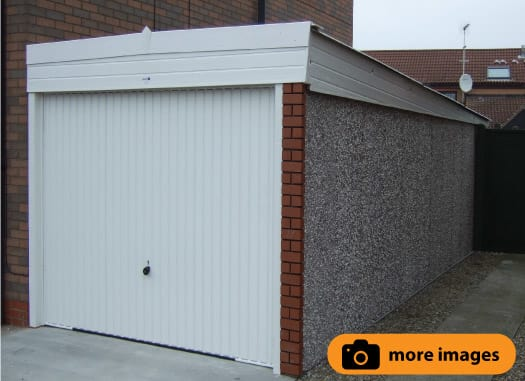 Pent Lean To Concrete garage