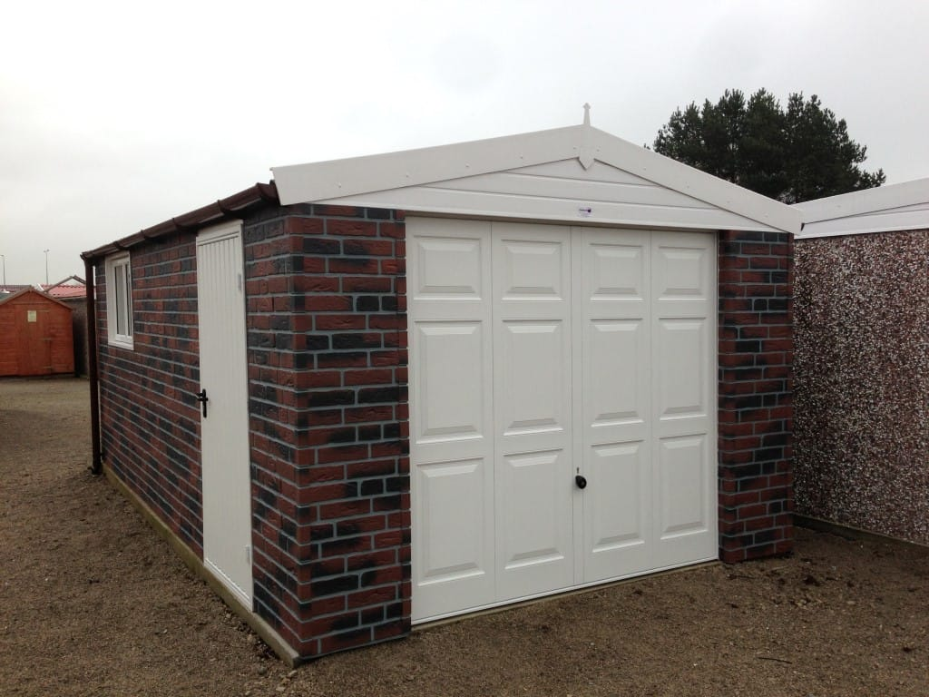 Hanson Concrete Shed Ideal For Workshops And Sheds Garage Alarm Circuit Schematic Diagram Brick Cladding
