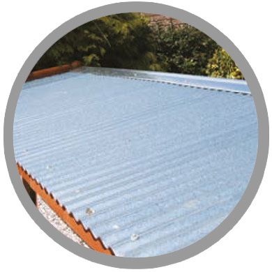 galvanised steel roof