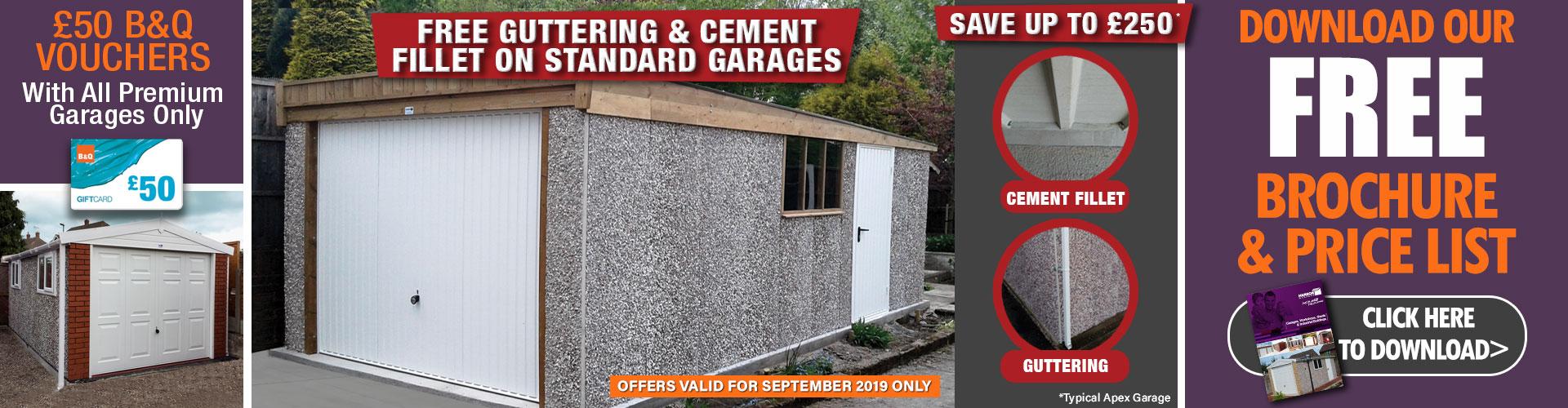 Concrete garages offers