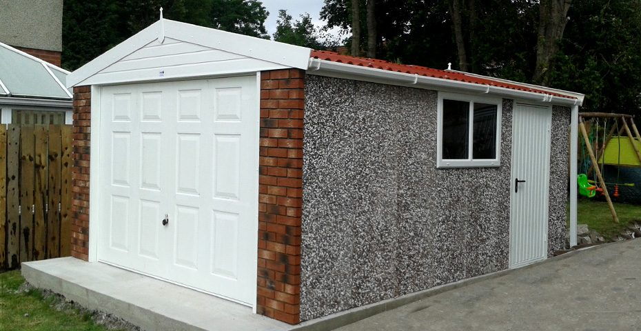 great concrete garage
